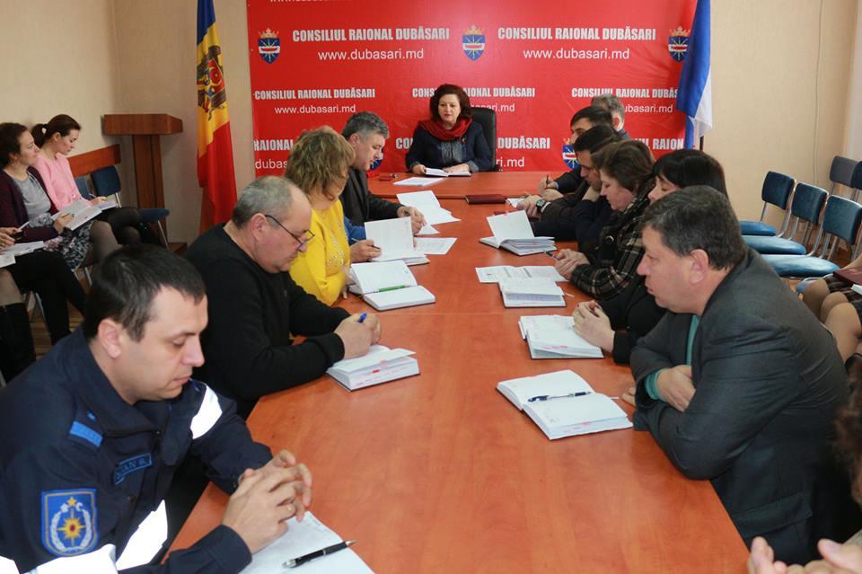 Şefii de secţii și direcţii ai subdiviziunilor Consiliului raional Dubăsari s-au întrunit în şedinţă ordinară operativă